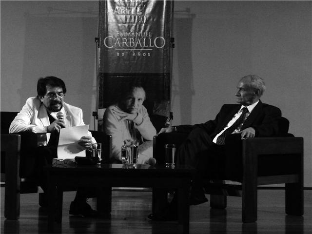 Juan Domingo Argüelles y Emmanuel Carballo